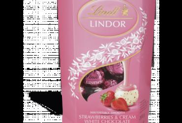 LINDOR Cornet Strawberries & Cream – 200g