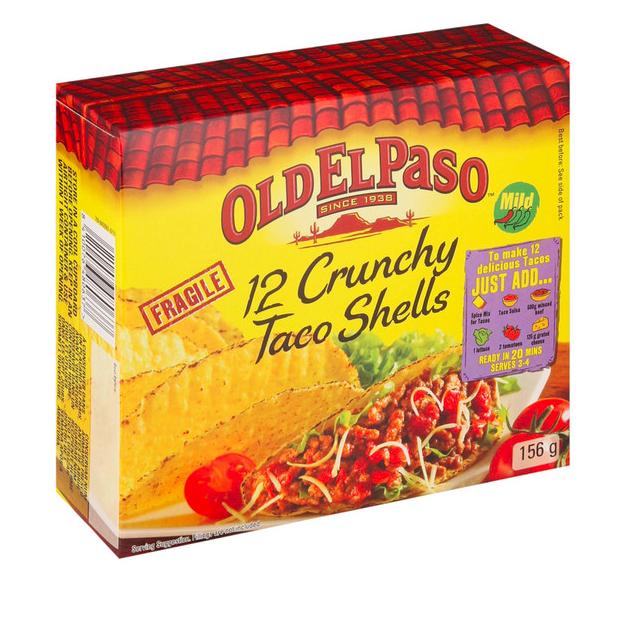 Old ElPaso 12 Crunchy Taco Shells