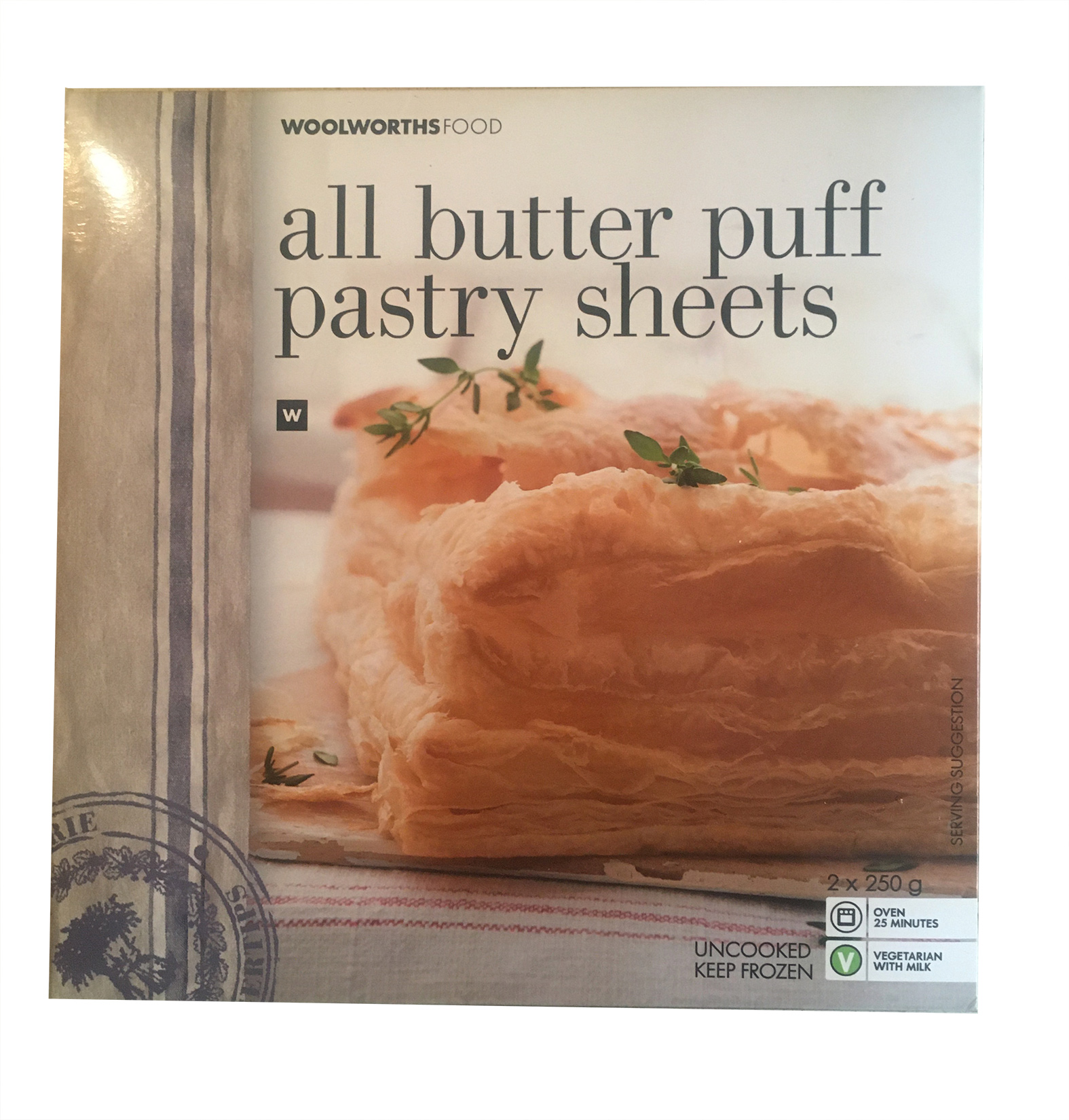 Frozen All Butter Puff Pastry Sheets 2x250g